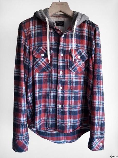 Jacket: flannel sweatshirt, plaid, hoodie, top, flannel ...