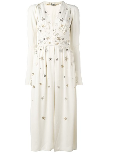 Attico dress embellished dress women embellished white