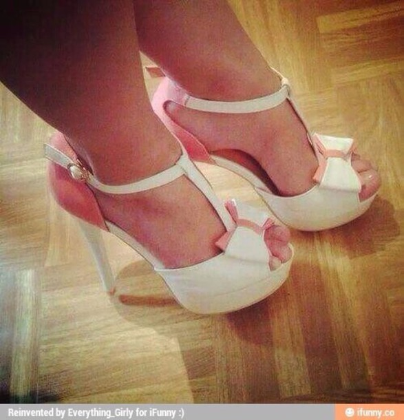 shoes bow high heels