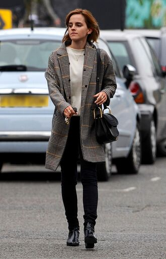 bag coat emma watson blouse pants sweatshirt