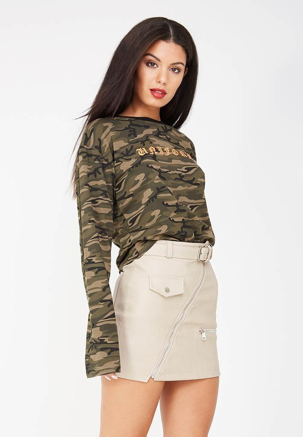skirt leather mini skirt grey light grey grey skirt