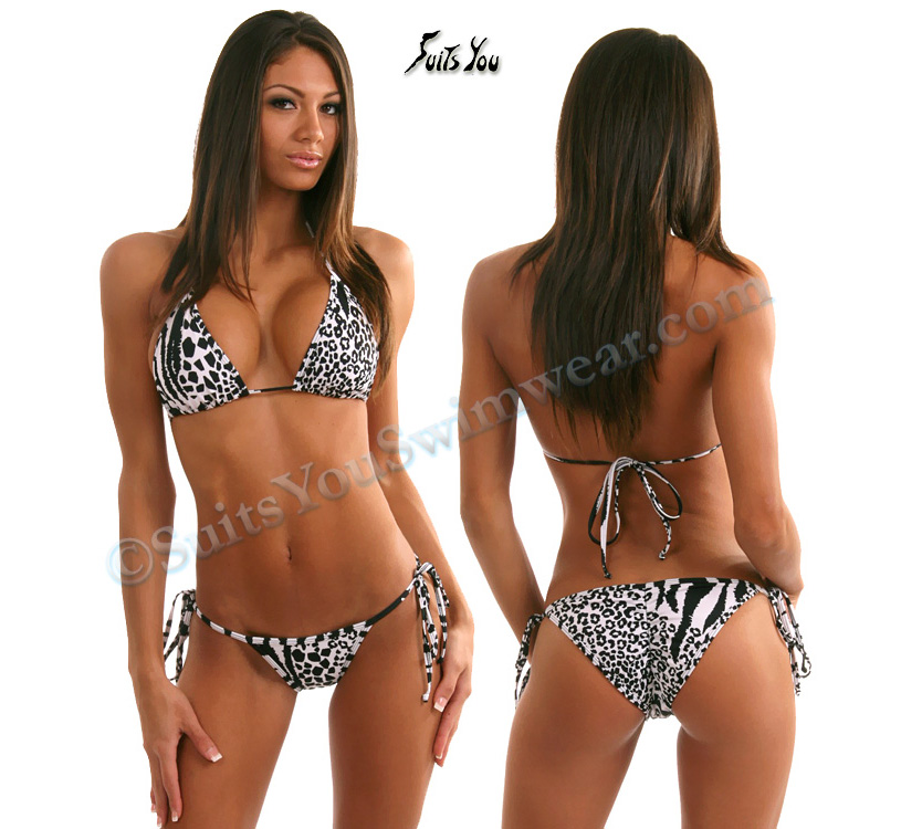 Bikinis, Swimwear, Competition Suits, Scrunch Baja Swimsuit, Print Tie Lycra,