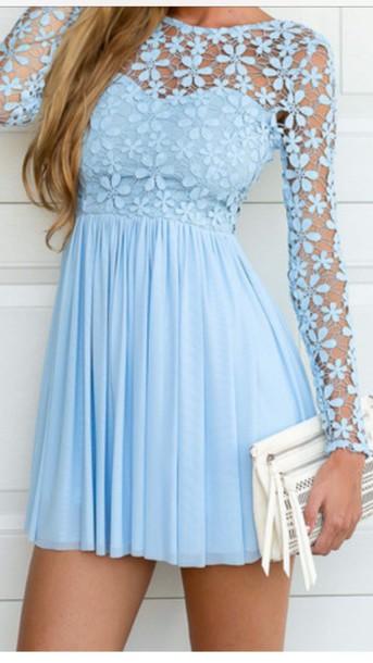 dress gorgeous dress lace dress blue dress cute dress dress long sleeve dress sexy dress birthday dress light blue