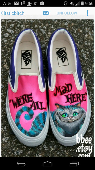 shoes vans alice in wonderland printed vans