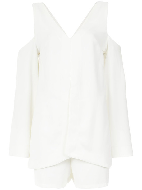 Lilly Sarti dress women spandex cold white