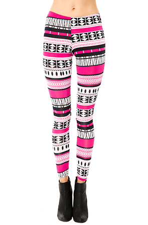 Femme Freak Aztec LeggingsPinkBlack : Karmaloop.com - Global Concrete Culture