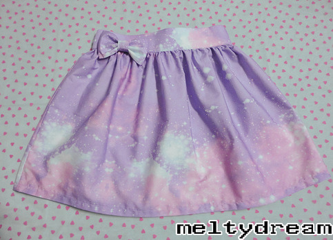 Pastel galaxy miniskirt from meltydream on storenvy