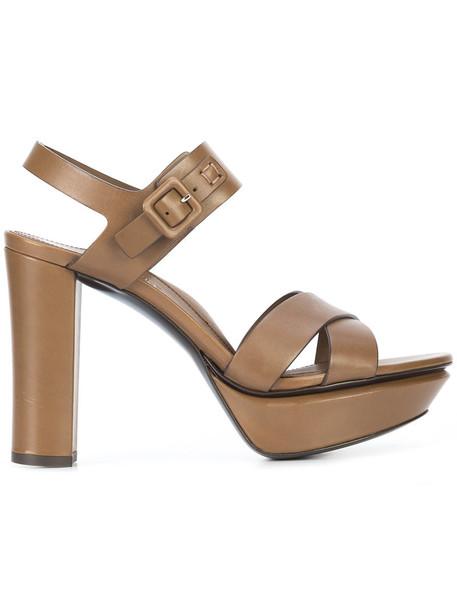 Marion Parke women sandals leather brown shoes