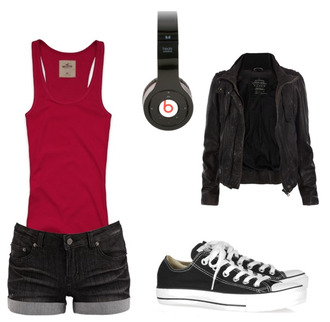 jacket outfit headphones