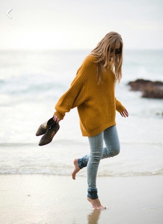 yellow pullover long strick style mustard oversized sweater knitwear