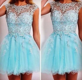dress prom dres blue dress glitter cute
