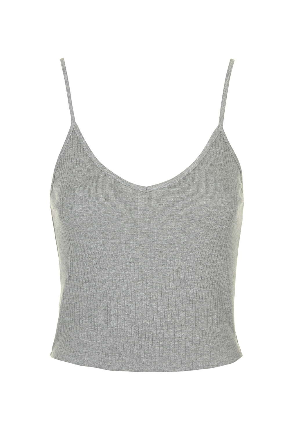28226e33c68eb1 Ribbed Cropped Cami - Topshop