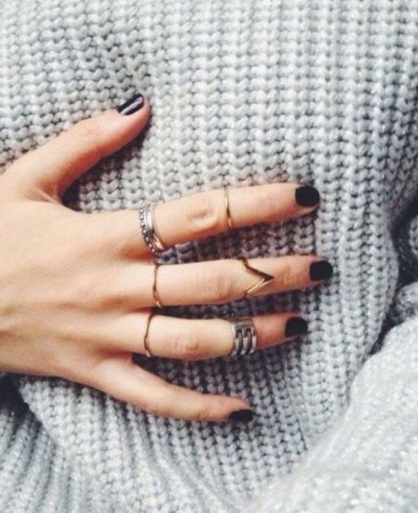 jewels knuckle ring ring silver and gold