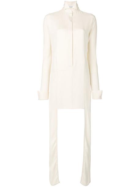 JW Anderson dress shirt dress women spandex white