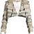 Fringe tweed cropped jacket