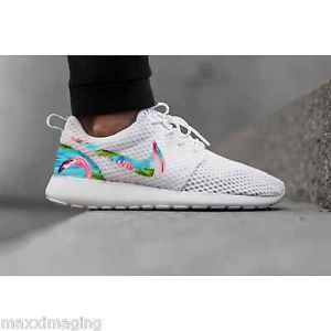 New Nike Roshe Run Custom Flamingo Blue Tropical Edition Mens Shoes Sizes 8 13 | eBay