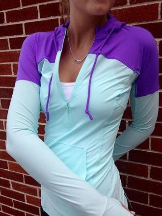 jacket sportswear purple blue coat teal workout top athleticwear running jacket