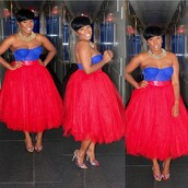 blue dress,blue shirt,blue,cute dress,cute high heels,heels,high heels,dress,style,sexy dress,fashion,fall outfits,red dress,red,tutu dress,tulle skirt,classy dress,classy,colorful,studded shoes,pearl,necklace,strapless dress,curvy,blouse