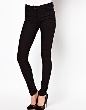 Asos ridley skinny jeans in clean black at asos