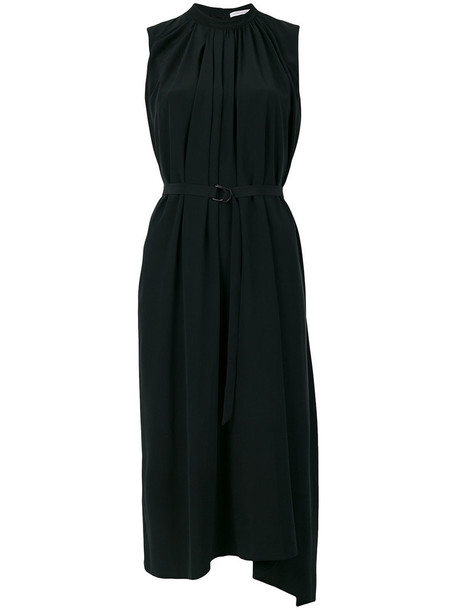 dress women black silk