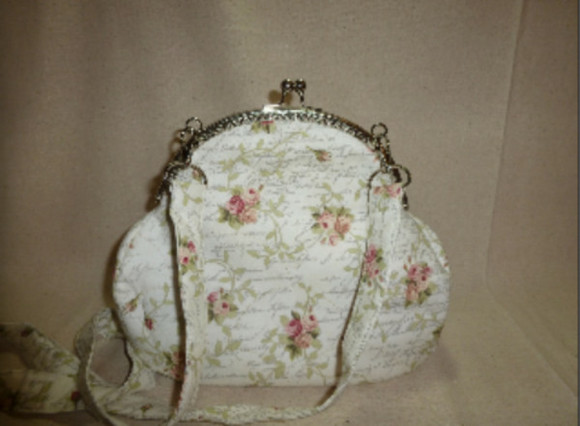 bag white white bag floral floral bag vintage cute girly fashion fashion bag cute bag