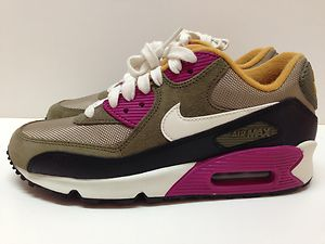 Women's Sz 6 5 Nike Air Max 90 Bamboo Sail Olive Running Shoes 325213 202