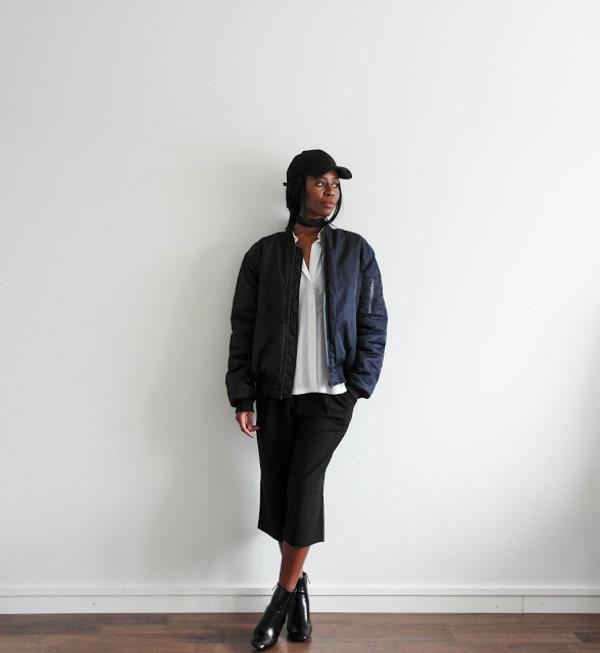 sylvie mus blogger hat jacket shirt shoes