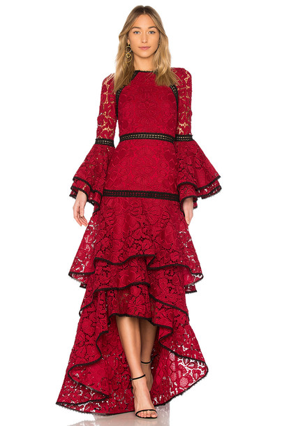 Alexis gown lace red dress
