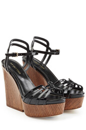 wedges,leather,black,shoes