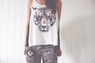 tiger t-shirt leggings dress