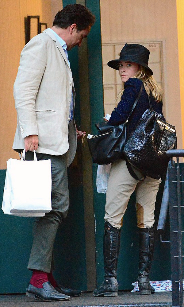 pants hat bag boots mary kate olsen jacket shoes
