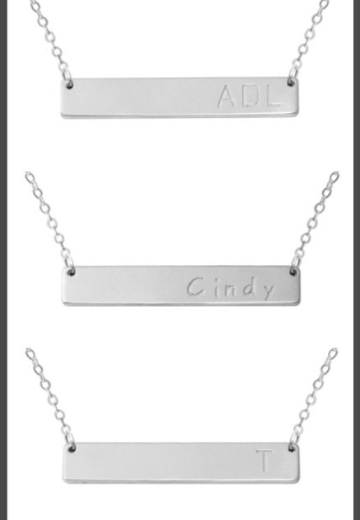 Customizable bar necklace · modern mint boutique · online store powered by storenvy