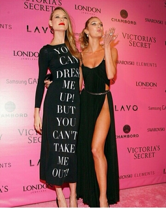 dress behati prinsloo maxi dress candice swanepoel black dress graphic tee slit dress red carpet dress victoria's secret