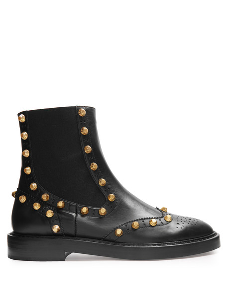 Balenciaga studded boots chelsea boots black shoes