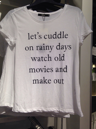 shirt white t-shirt t-shirt netflix cuddle graphic tee cute nice make out let's make out