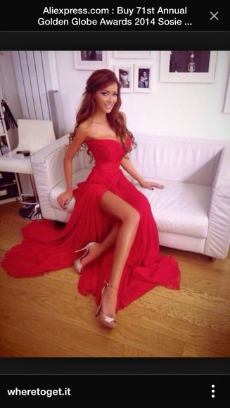 red dress style sweetheart dresses