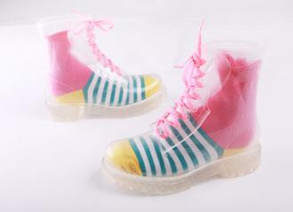 shoes funky boots boots orange #rainboots #loveittttt xmas funny socks