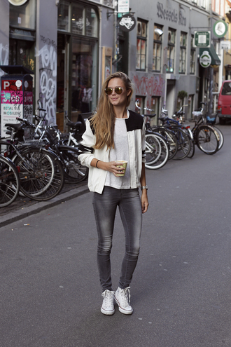 bonsoir cherie blogger high top converse skinny jeans