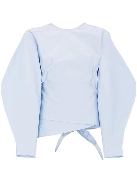 ellery top wrap top women blue