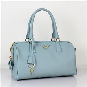 Cheap Prada handbags 2012 BN0796 Taiga women bag light blue - $148.02