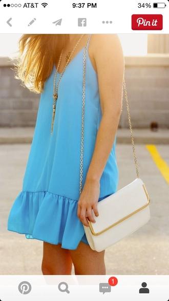 blue dress beach turquoise summer dress