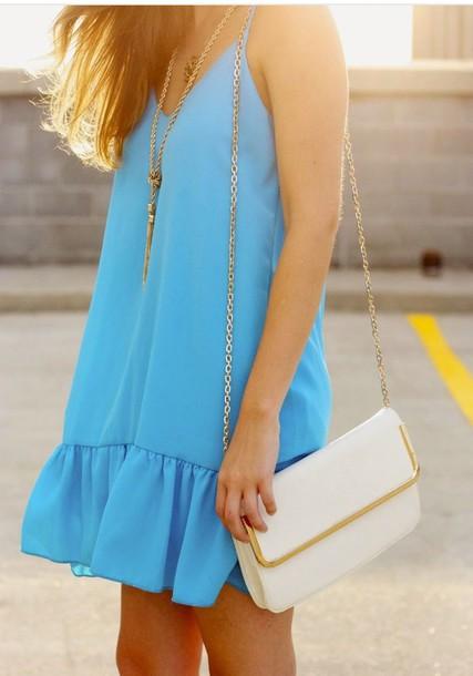 blue dress beach turquoise summer dress dress