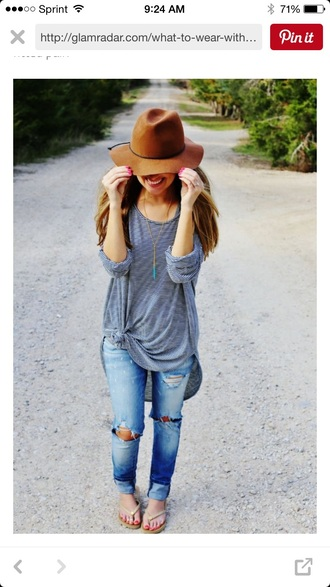 shirt long sleeves t-shirt loose fit jeans distress jean lightwash