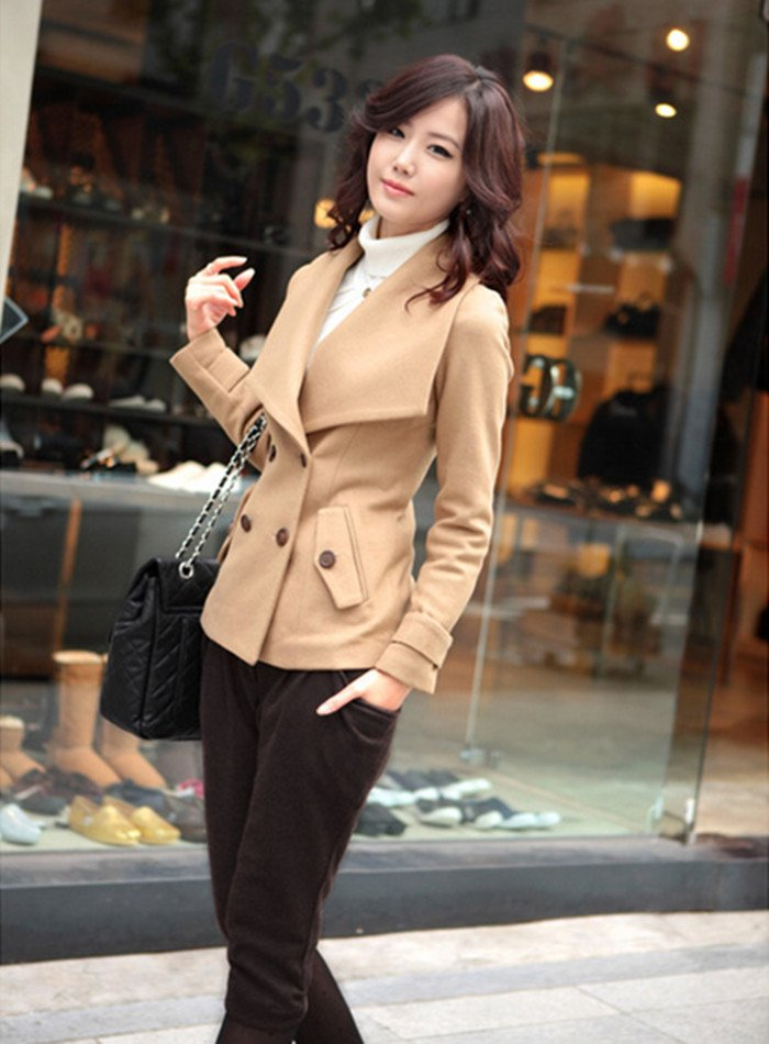 ladies wool coats women jacket hot sale winter warm leisure wear outerwear 2013 ladies fashion vintage clothes-in Wool & Blends from Apparel & Accessories on Aliexpress.com