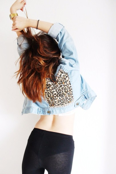a10acd1d99 jacket denim jacket leopard print jeans denim High waisted shorts disco  pants b w sexy hipster indie