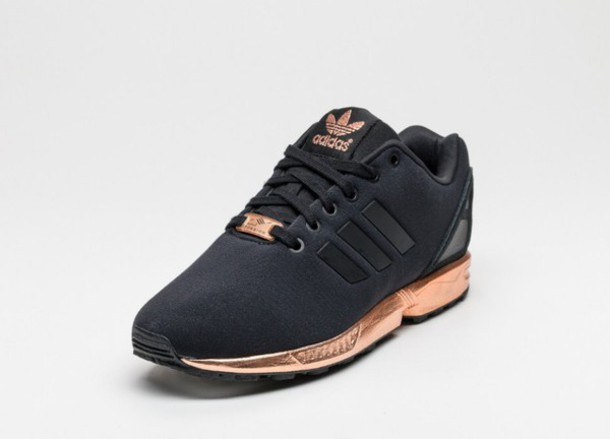 adidas shoes black. shoes black and gold adidas zx flux