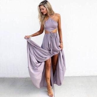dress maxi lilac purple prom prom dress evening outfits gown going out dress evening dress occasion