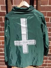 jacket,cross,upside down cross,odd future,tyler the creator,menswear,windbreaker