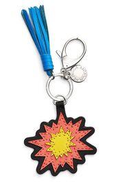 bag,keychain,bag charm,charm,firework,tassel,blue,bag accessoires