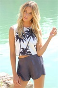 Palm Tree Top | SABO SKIRT